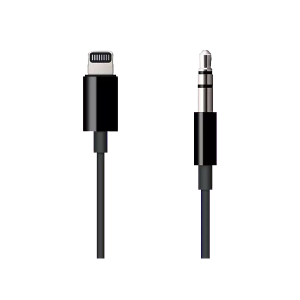APPLE Lightning naar jack-audiokabel - Zwart