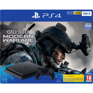 SONY Playstation 4 500GB + Call of Duty: Modern Warfare