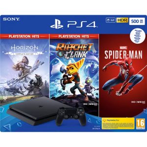 SONY PS4 500GB + Spider-Man, Horizon Zero Dawn CE en Ra...