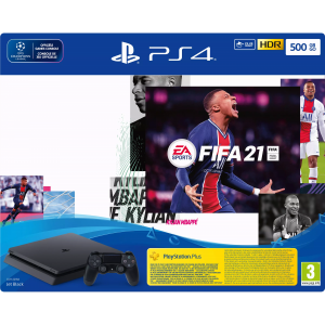 SONY Playstation 4 (Slim) 500 GB + FIFA 21 + Playstatio...