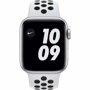 Apple Watch Nike SE 40mm Zilver Aluminium Witte Sportba...