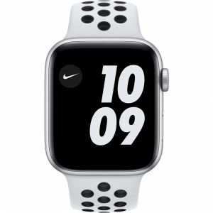 Apple Watch Nike SE 44mm Zilver Aluminium Witte Sportba...