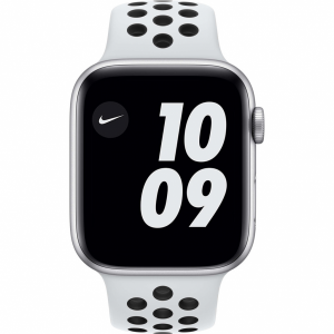 Apple Watch Nike Series 6 44mm Zilver Aluminium Witte S...