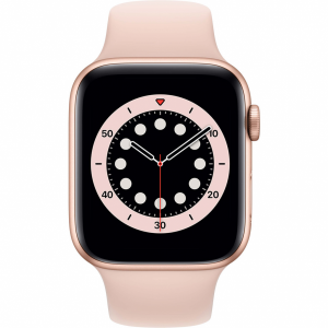 Apple Watch Series 6 44mm Goud Aluminium Roze Sportband