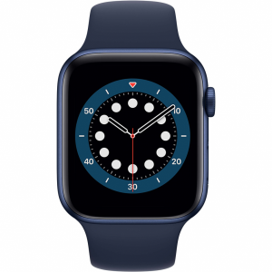 Apple Watch Series 6 44mm Blauw Aluminium Blauwe Sportb...