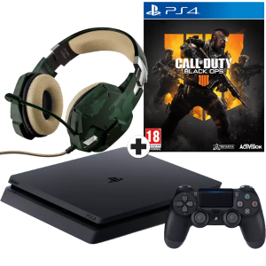 SONY PlayStation 4 500GB + CoD Black Ops 4 + Trust GXT ...