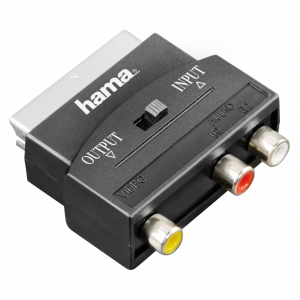 HAMA Video adapter scart-RCA 1 ster