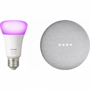 Google Nest Mini Wit + Philips Hue White and Color E27 ...