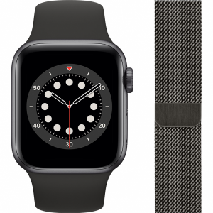 Apple Watch Series 6 40mm Space Gray Aluminium Zwarte S...