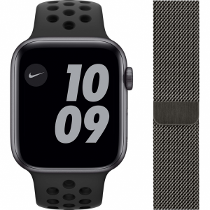Apple Watch Nike SE 44mm Space Gray Aluminium Zwarte Sp...