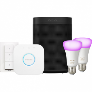 Sonos One Zwart Philips Hue White & Color Starter Duo P...