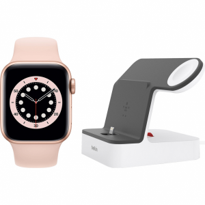 Apple Watch Series 6 40mm Goud Roze Sportband + Belkin ...