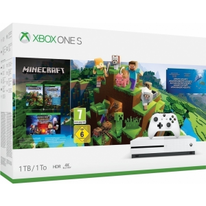 Xbox One S - 1TB Minecraft Aquatic Bundle (schade aan d...