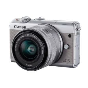 CANON EOS M100 + 15-45mm + SD-kaart & camerahoes grijs