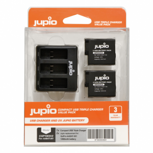 Jupio Kit: Battery GoPro HERO8/7/6/5 & HERO (2018) accu...