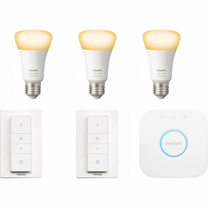 Philips Hue White Ambiance Starter 3-Pack E27 + 2 dimme...