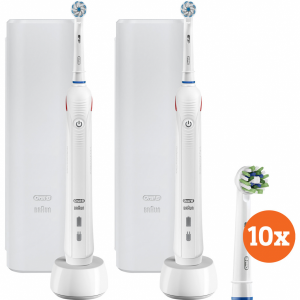 Oral-B Pro 2 2500 Duo Pack wit + Cross Action opzetbors...